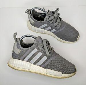 Adidas NMD R1 Gray White kids sz 5 Women's sz 7